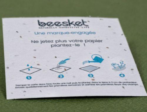 Flyer detox sur papier ensemencé avec notice d'utilisation – Fleurs Sauvages 280gr/m2
