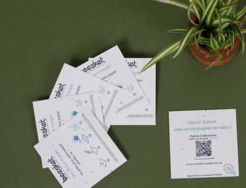 Flyer ensemencé avec QR code pour cure Détox bio – Graines de Fleurs sauvages 280gr/m2