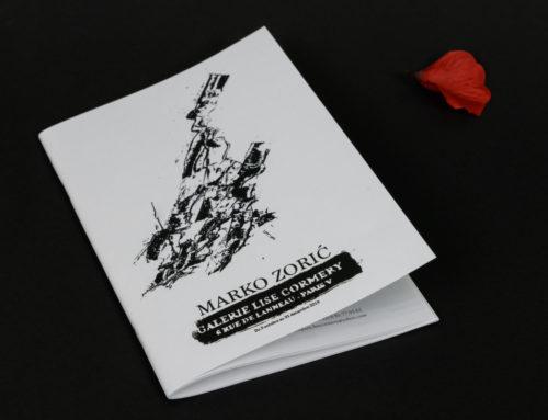 Dossier de presse avec 2 piqures métal pour galerie d'art – oeuvres sérigraphiés par Marko Zoric