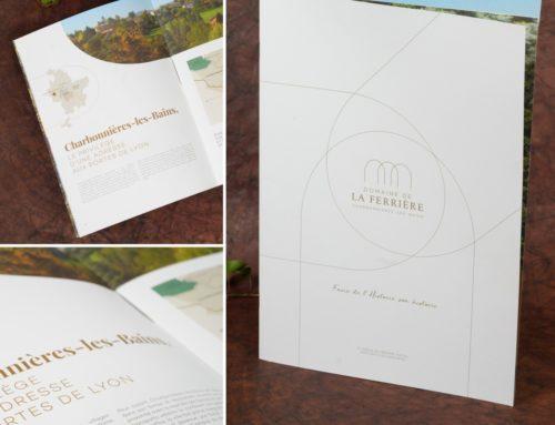 Brochure promoteur XXL 34x24cm 2 pics métal – Olin regular 300gr/m2