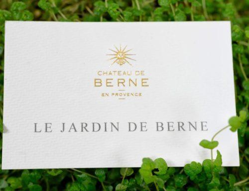 Carte de visite Château – Marquage à chaud Or brillant sur papier texturé chevron Rives Tweed 350gr/m2