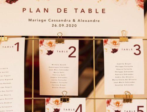 Plan de table fleuri en papier de création texturé – Création Pack 350gr/m2