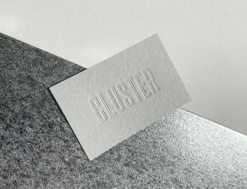 Cartes de visite sans impression en débossage pur sur papier 100% recyclé – Gmund Heidi Faded Grey 330gr/m2