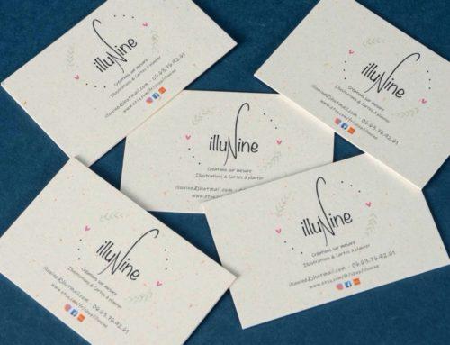Cartes de visite Illustratrice sur papier recyclé Keaykolour poussière de soleil 250gr/m2