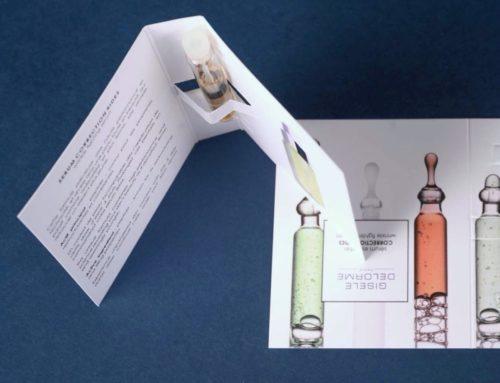 Cartonette échantillon de parfum avec découpe à la forme – Olin extra blanc 300gr/m2