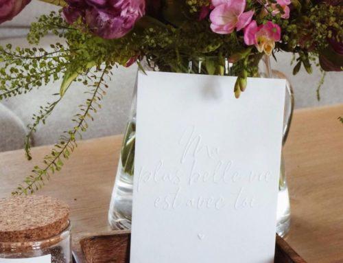 Carte cadeau ma plus belle vie est avec toi avec gaufrage seul – Pur Coton 350gr