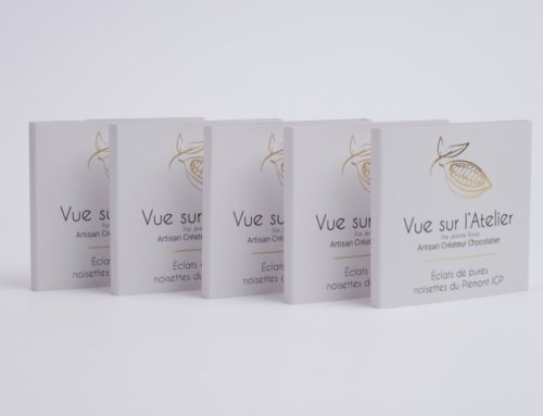 Fourreaux Sleeve pour tablettes de chocolat artisanales – Dorure numérique or et impression noir