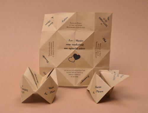 Faire-part de mariage Cocotte en papier origami – Materica kraft 250gr/m2