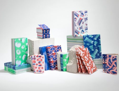 Papeterie Blocs et Carnets avec papiers 100% recyclés issus de rebus – Couture singer – Encollage pigmentaire – Risographie