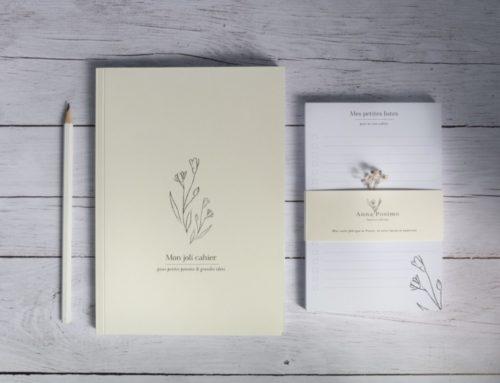 Carnet de notes Illustratrice nature avec reliure dos carré collé – Couverture Colorplan Natural 270gr/m2 et pages en papier recyclé Nautilus superwhite