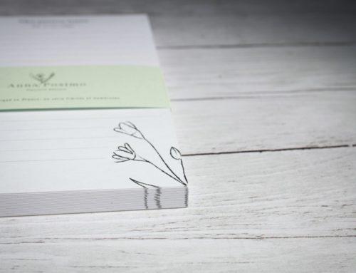 Bloc Notes Illustratrice Nature sur papier 100% recyclé avec bandeau – Colorplan Powder Green 270gr/m2