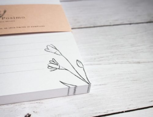 Bloc Notes Illustratrice Nature sur papier 100% recyclé avec bandeau – Woodstock Cipria 260gr/m2