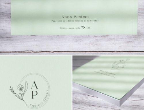 Carnet de notes Illustratrice nature avec reliure dos carré collé – Couverture Colorplan Powder Green 270gr/m2 et pages en papier recyclé Nautilus superwhite