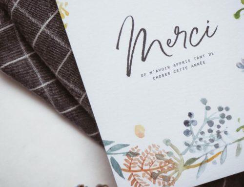 Cartes A6 remerciements fleurie sur papier texturé – Creation Pack 350gr/m2