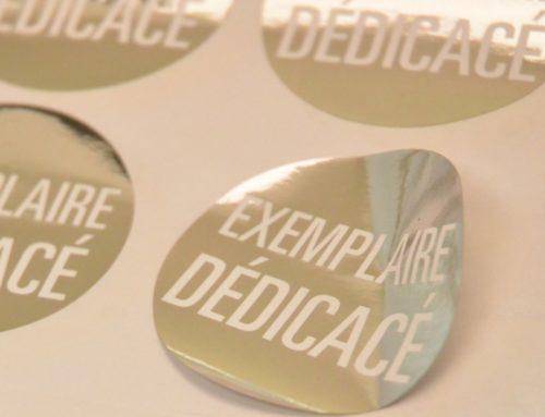 Planche de Stickers Exemplaire Dédicacé – Dorure numérique OR et Argent – Découpe laser mi-chair
