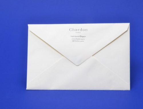 Enveloppes avec impression adresse sur patte pointue – Papier texturé 120gr/m2
