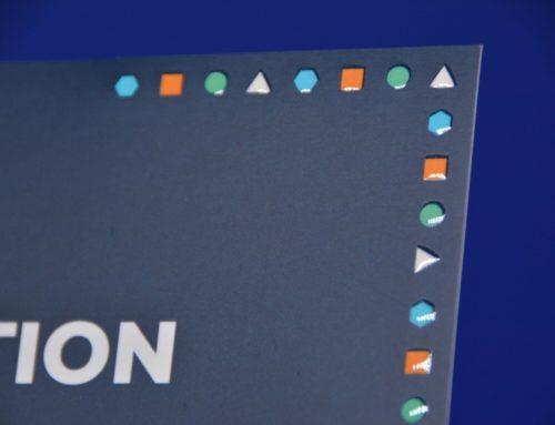 Carton d'invitation évènement en Vernis 3D recto verso sur un pelliculage mat